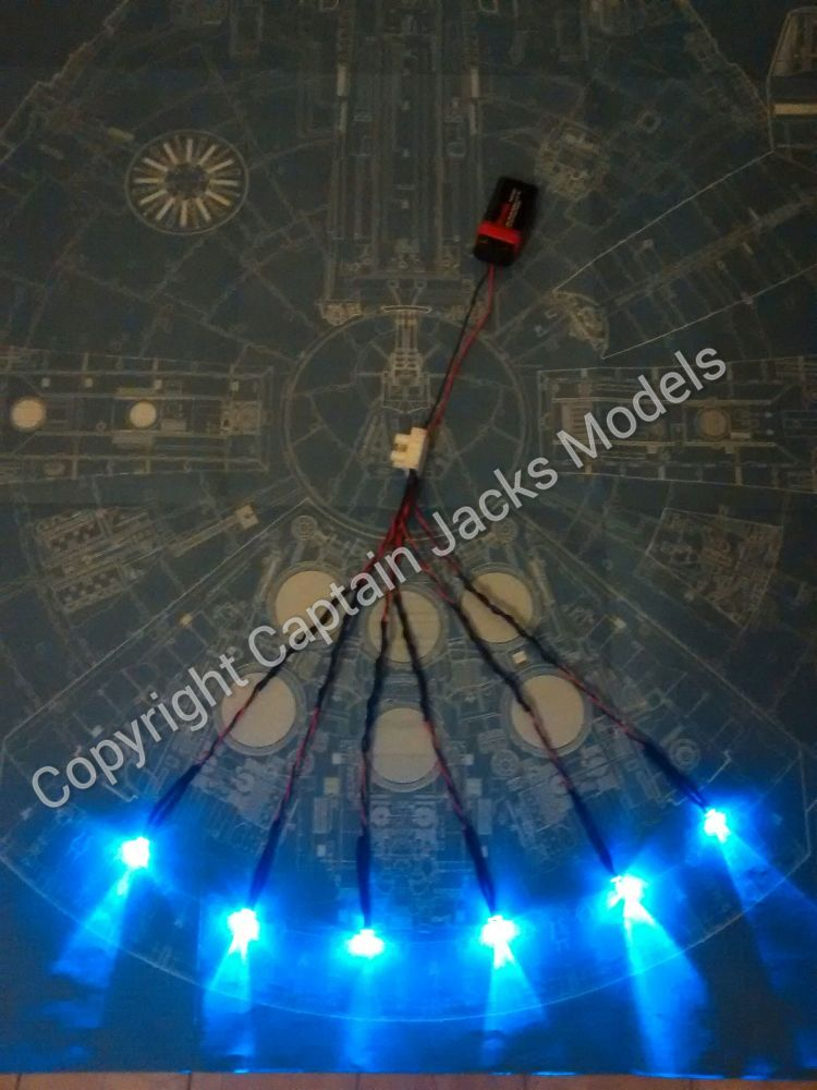 Large Scale Millennium Falcon Hyper Drive Booster Blue Flicker Effect Set