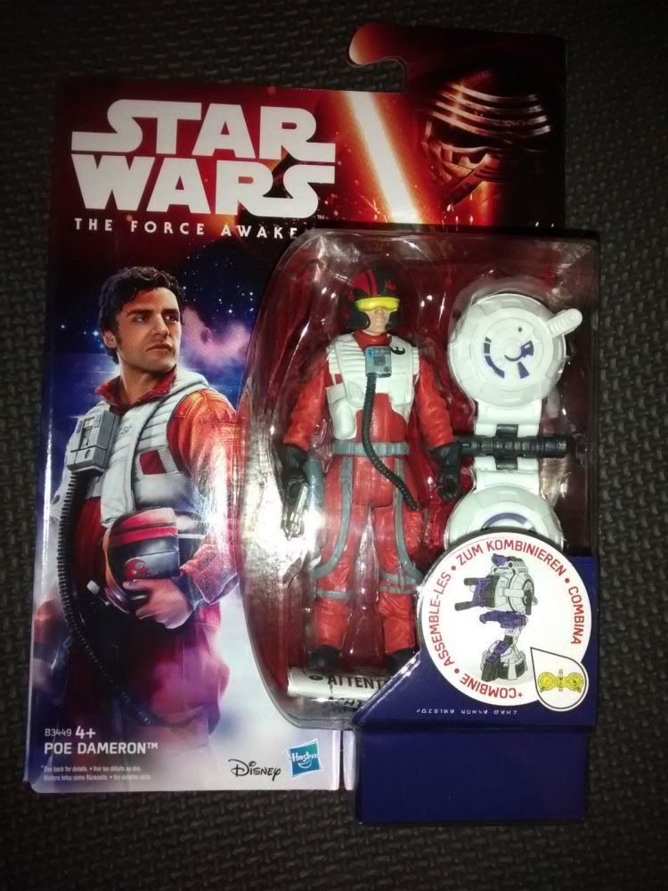 Star Wars The Force Awakens Poe Dameron Collectable Figure 3.75