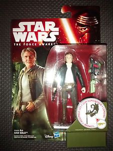 Star Wars The Force Awakens Han Solo Collectable Figure 3.75