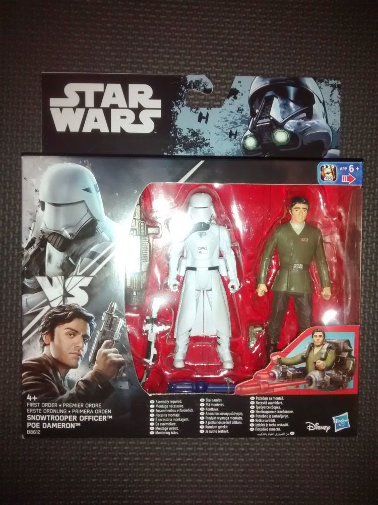 Star Wars First Order Snowtrooper Officer & Poe Dameron Collectable Figures
