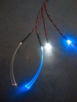 1mm Fibre Cockpit Set x1 Flash Yellow Fibre x1 Flash Blue Fibre x1 5mm UV x1 3mm WW 9v Clip