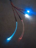 1mm Fibre Cockpit Set x1 Static Cool White Fibre x1 Alternate Red / Blue Fibre x1 5mm UV x1 3mm WW 9v Clip