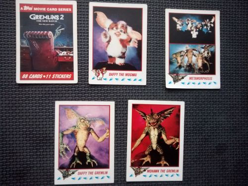 Vintage Collectable Trading Cards - Gremlins 2 The New Batch - Cards 1,3,7,