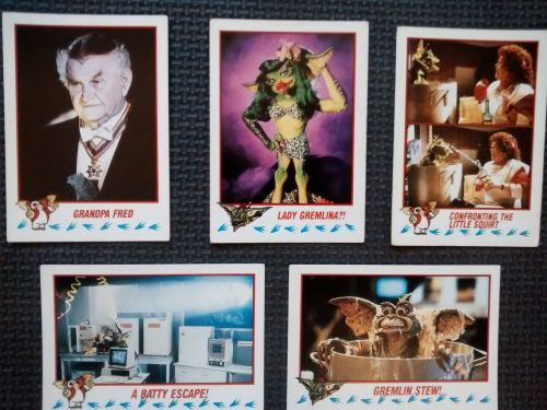 Vintage Collectable Trading Cards - Gremlins 2 The New Batch - Cards 20, 38
