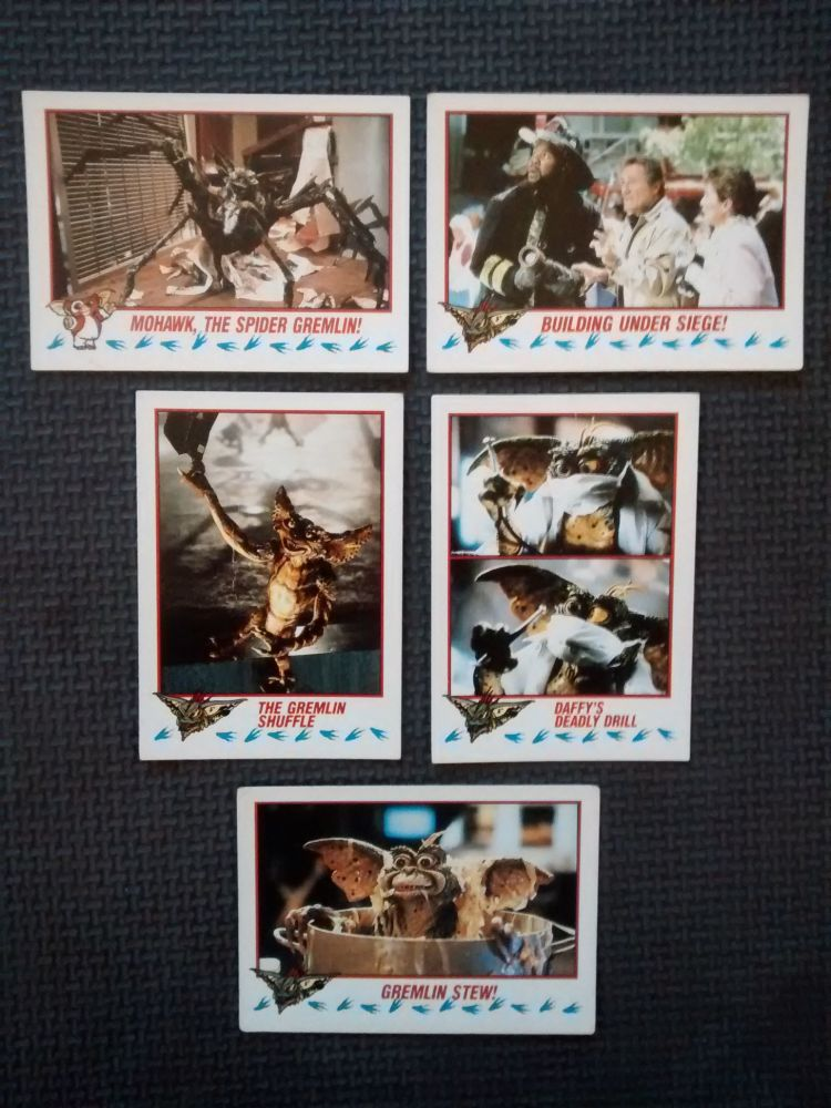 Vintage Collectable Trading Cards - Gremlins 2 The New Batch - Cards 38, 61