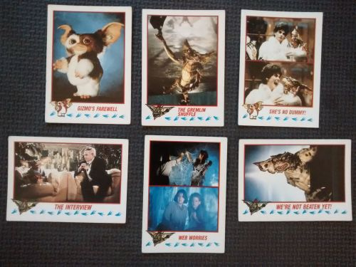 Vintage Collectable Trading Cards - Gremlins 2 The New Batch - Cards 64, 68