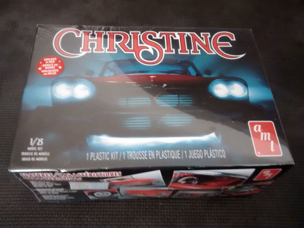 AMT Christine - 1958 Plymouth - Model Kit - Molded In Red