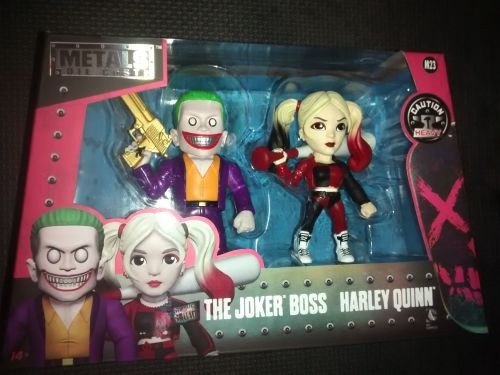 Metals Die Cast The Joker Boss & Harley Quinn Display Figures - Suicide Squ