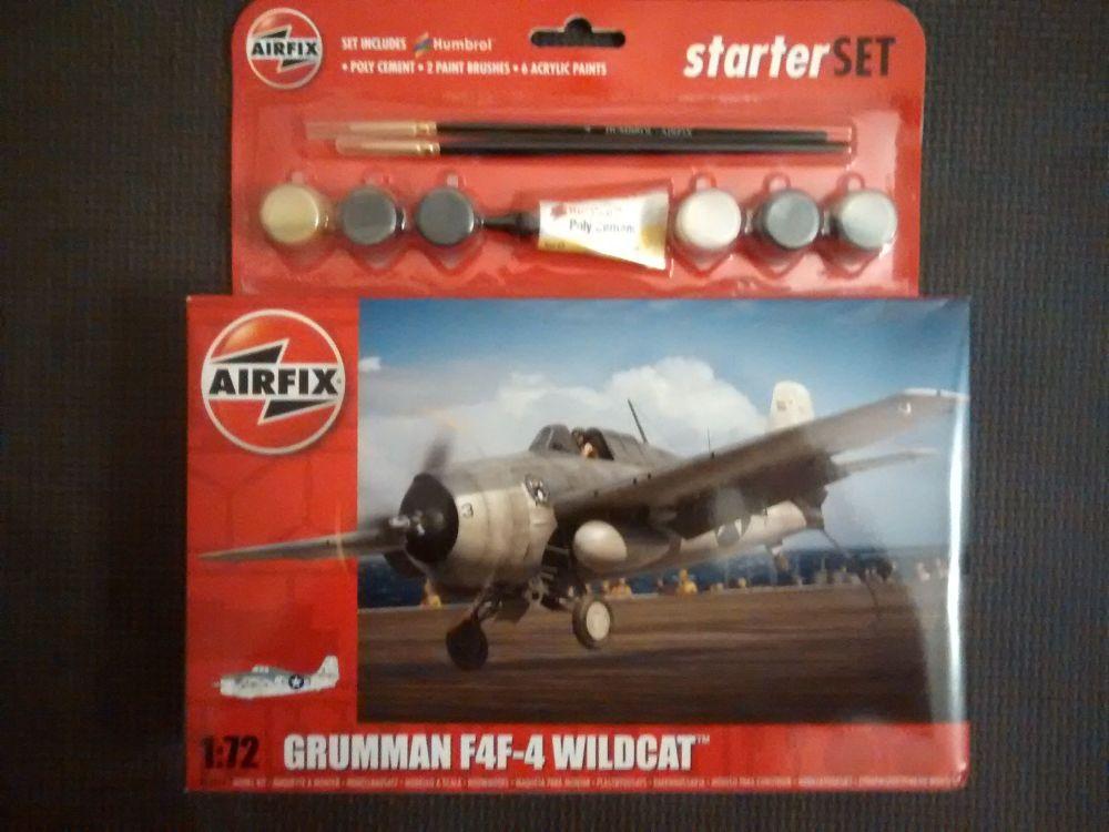 Airfix A55214 Grumman F4F-4 Wildcat 1:72 Plastic Model Kit
