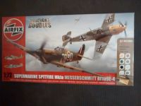 Airfix A50135 Supermarine Spitfire MkIa & Messerschmitt Bf109E-4 Dogfight Double 1:72 Plastic Model Kit