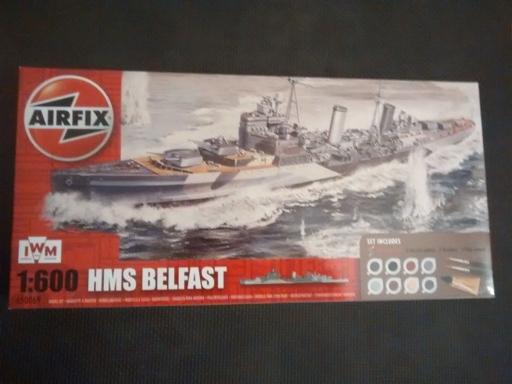Airfix A50069 HMS Belfast 1:600 Plastic Model Kit