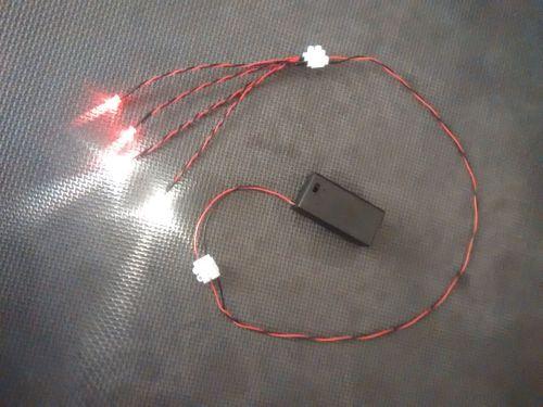 Model Display Car Led Light Kit - 5mm - x2 Warm White x2 Red