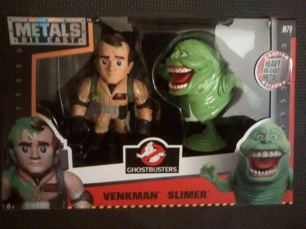 Jada Metals Ghostbusters Die Cast Venkman & Slimer Figure Set