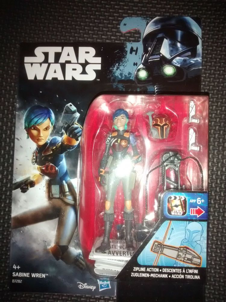 Star Wars Sabine Wren Collectable Figure B7282 3.75