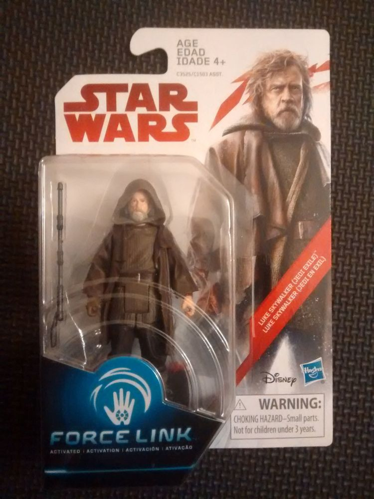 Star Wars Luke Skywalker (Jedi Exile) Collectable Figure C3525/C1503 Force