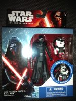 """Star Wars The Force Awakens Kylo Ren C/W Armor Accessory Collectable Figure 3.75"""" Tall"""