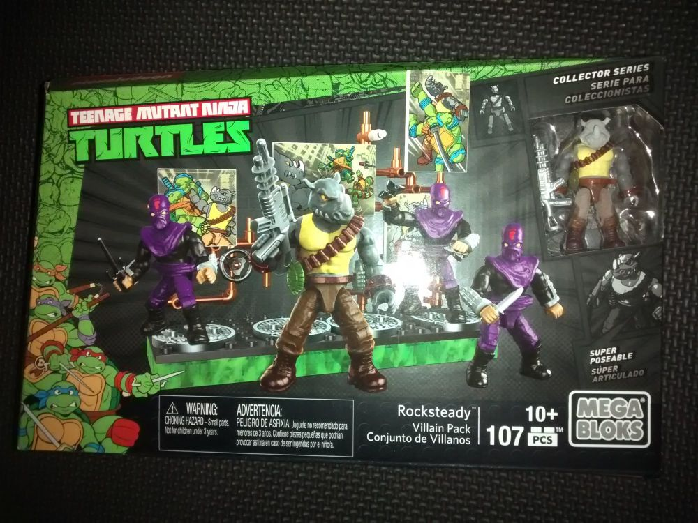 Mega Bloks - Teenage Mutant Ninja Turtles - Rocksteady Villain Pack - 107 P