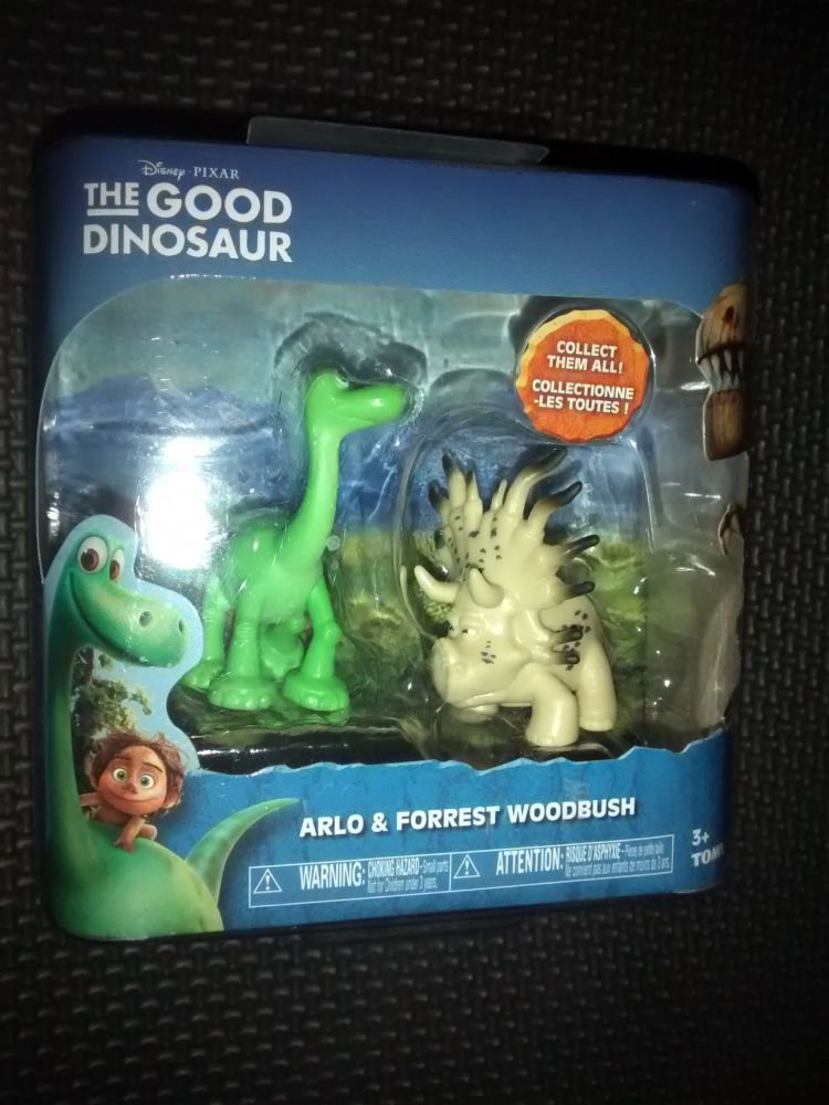 Disney Pixar - The Good Dinosaur - Collectable Figures - Arlo & Forest Wood