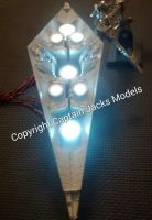 1:2700 Star Destroyer Engine Thruster Light Unit - Cool White Layout