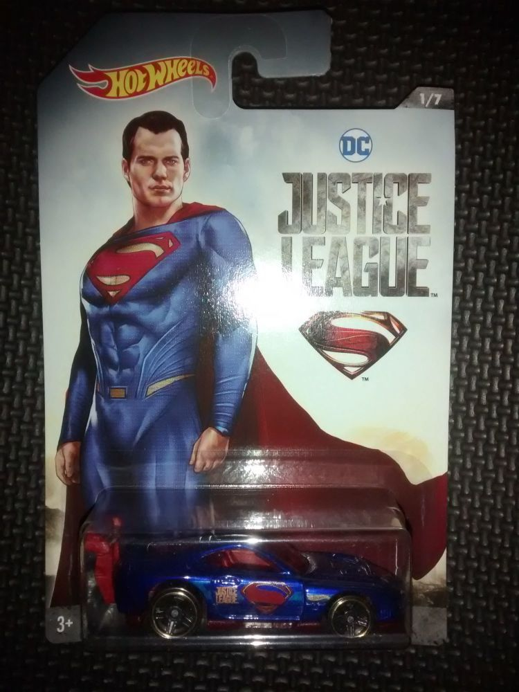 Hotwheels Diecast Cars - Justice League - Superman - Power Pro - 1 of 7