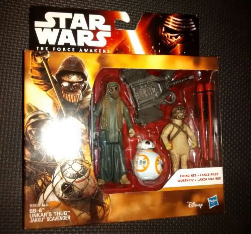 Star Wars The Force Awakens BB-8 , Unkar's Thug & Jakku Scavenger Collectab