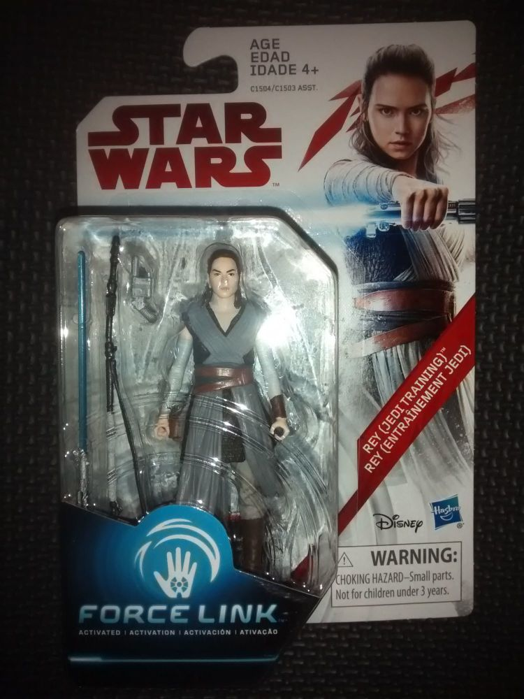 Star Wars Rey (Jedi Training) Collectable Figure C1504/C1503 Force Link Com