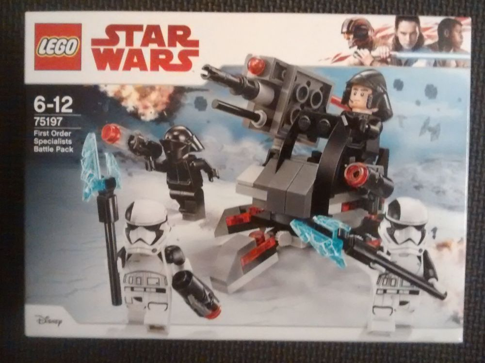 Lego Star Wars - First Order Specialists Battle Pack - 75197 - Age Range 6