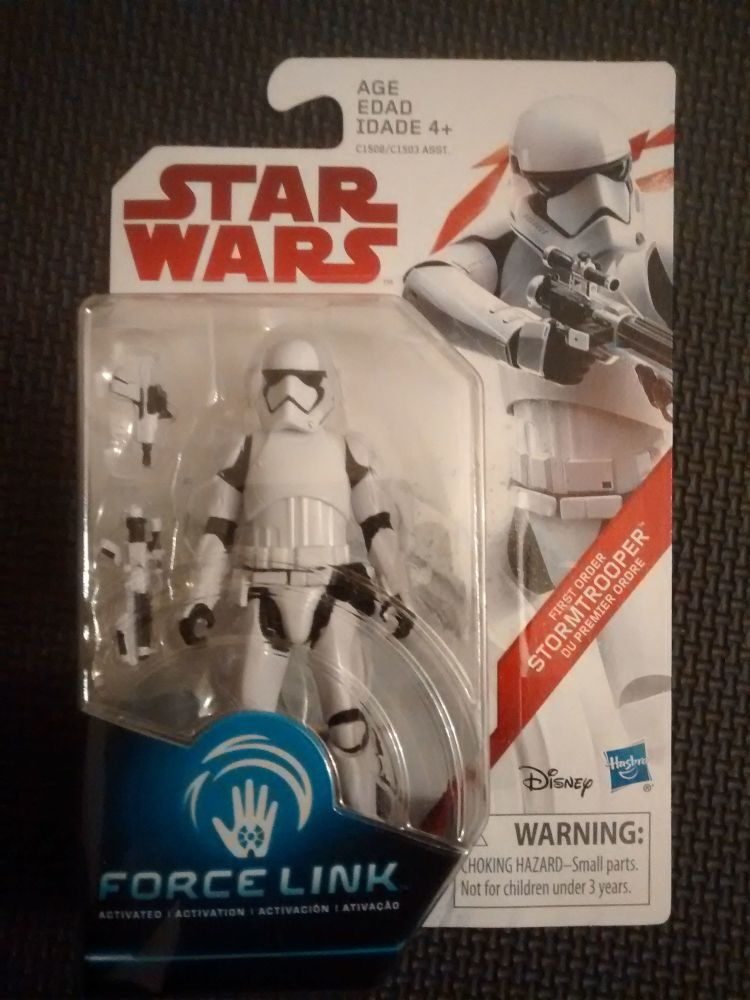 Star Wars First Order Stormtrooper Collectable Figure C1508/C1503 Force Lin