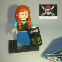 Lego Minifigs - Disney Series 2 (Part Number 71024) - Anna Figure
