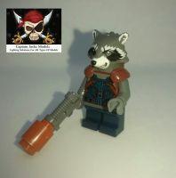 Lego Minifigs - Rocket Raccoon - Split from set 76102