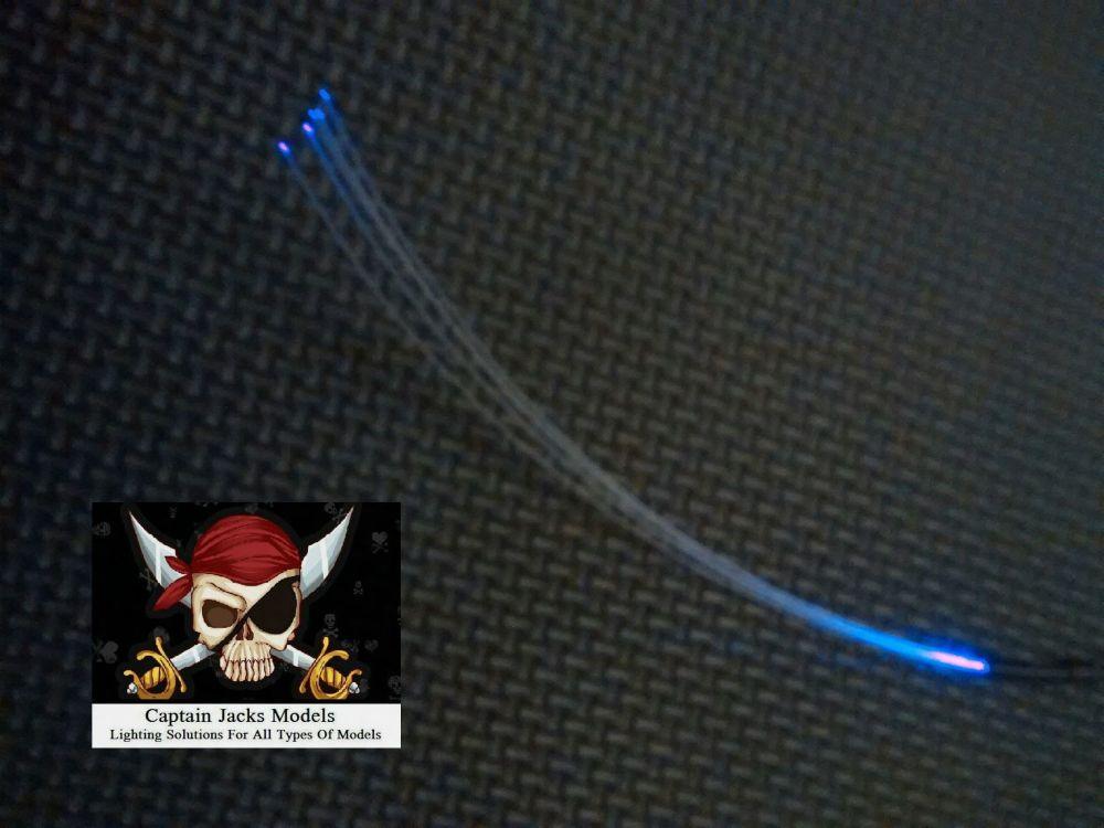 x1 Unit ULTRA VIOLET Separate - 5 Fibre Strands (0.5mm strands)