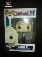 Pop Marvel Avengers Captain America Civil War - Agent 13 - Vinyl Figure - Issue 131