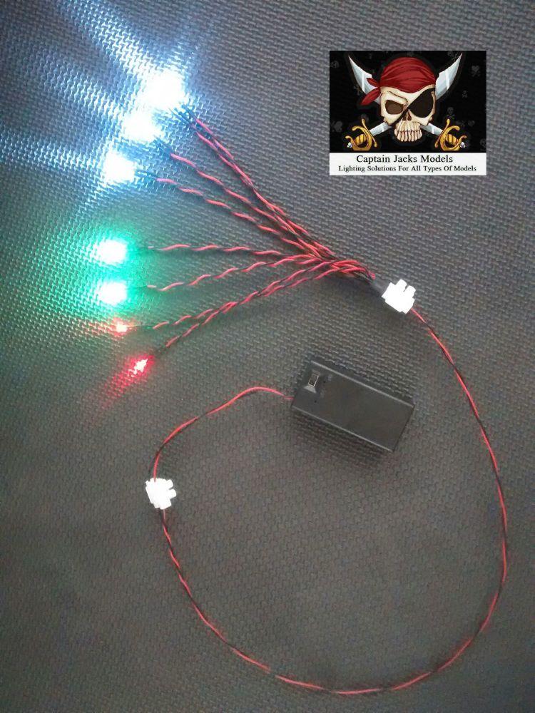SET 1 - Light Kit For AMT 1:25 Christine - 9v Battery Box Supply