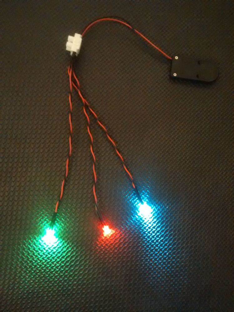 RC Boat Navigation Light Kit - CR2032 SET - Static Leds 5mm Red / Green 3mm