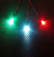 RC Boat Navigation Light Kit - SCREW TERMINAL ONLY SET - Static Leds 5mm Red / Green 3mm Cool White
