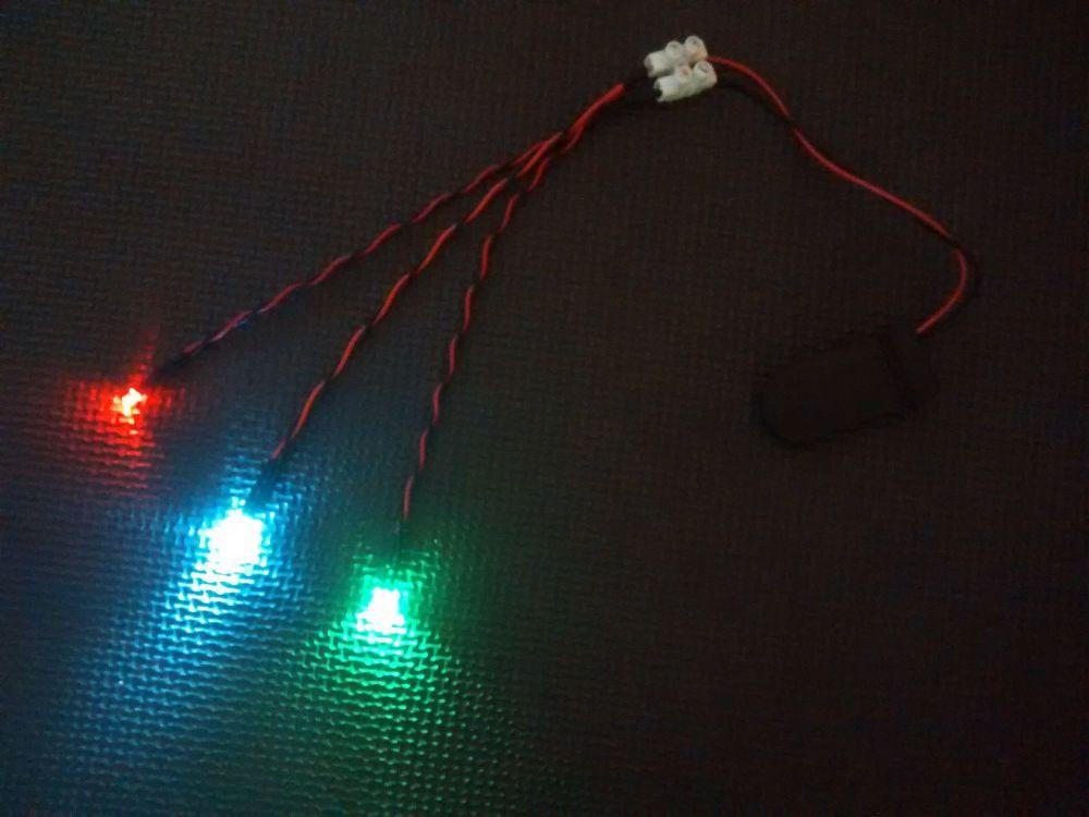 RC Boat Navigation Light Kit - CR2032 SET - Static Leds 3mm Red / Green 3mm