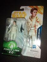 "Star Wars Princess Leia Organa Collectable Figure E1678/E0323 Force Link - 2.0 Compatible 3.75"" Tall"