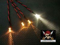 Model Ship Lighting - Led Light Kit - x3  5mm Yellow & x1  5mm Warm White - CR2032 Battery Box With Switch