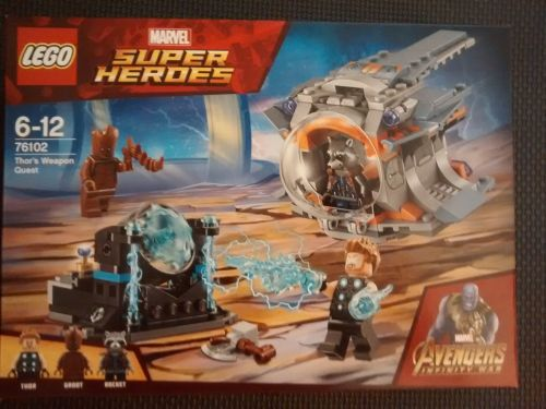 Lego Super Heroes - Thors Weapon Quest 76102 - Age Range 6 to 12 - Brand Ne