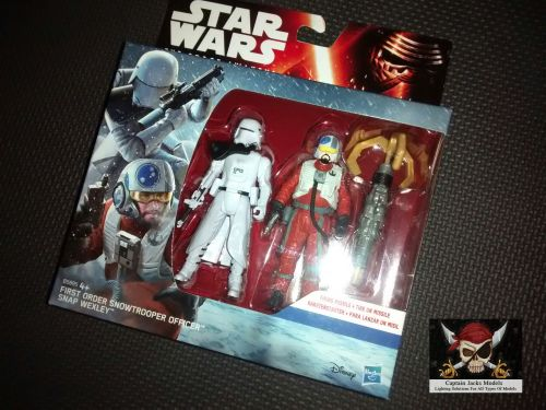 Star Wars The Force Awakens First Order Snowtrooper Officer & Snap Wexley C