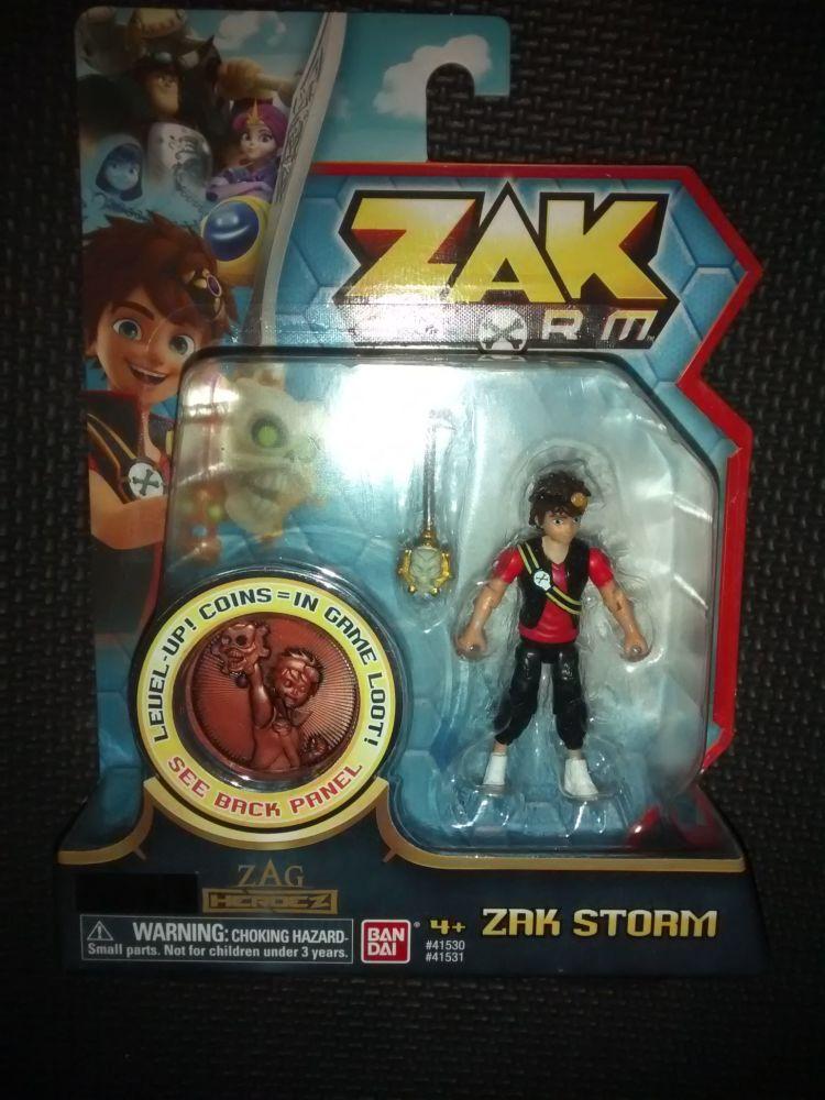 Ban Dai - Zak Storm - Action Figure & Treasure Coin