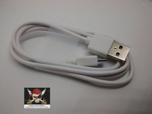 2 Metre Micro USB Lead - WHITE