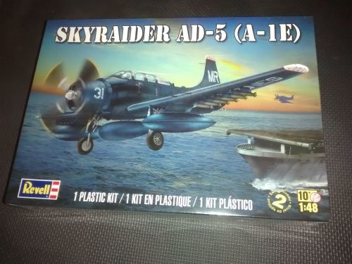 Revell Skyraider AD-5 (A-1E) Plastic Model Kit 1:48 Scale - Skill Level 2