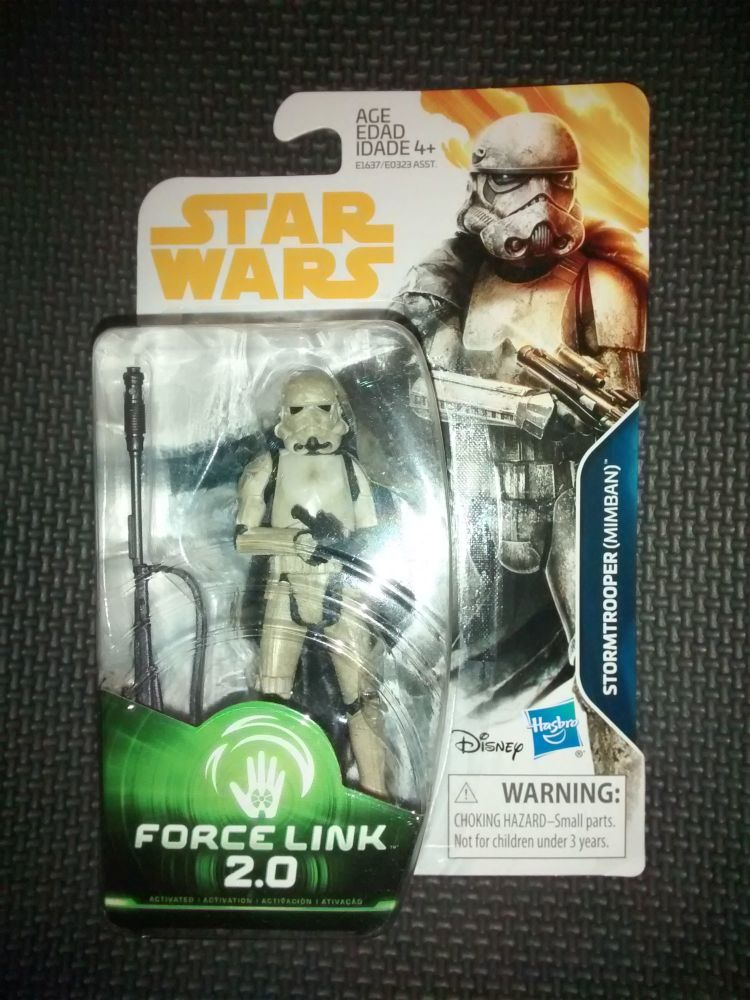 Star Wars Stormtrooper (Mimban) Collectable Figure E1637/E0323 Force Link -