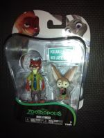 "ZooTropolis Nick & Finnick 3"" Collectable Figures - Carded & In Excellent Condition"
