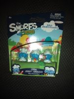 "The Smurfs - Micro Smurf Pack - 1"" Collectable Figures - Cook - Jokey - Grouchy - Carded & In Excellent Condition"