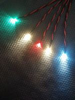 RC Boat Navigation Light Kit - SCREW TERMINAL ONLY SET - Static Leds 3mm Red & Green - 3mm Cool White - 3mm Warm Whites