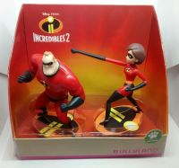 "Disney Pixar - Incredibles 2 - Vinyl Figure Set - Mr Incredible & Elastigirl - 4"" Tall"