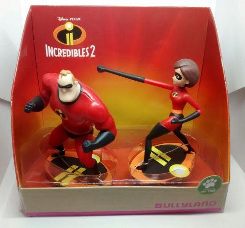 Disney Pixar - Incredibles 2 - Vinyl Figure Set - Mr Incredible & Elastigir