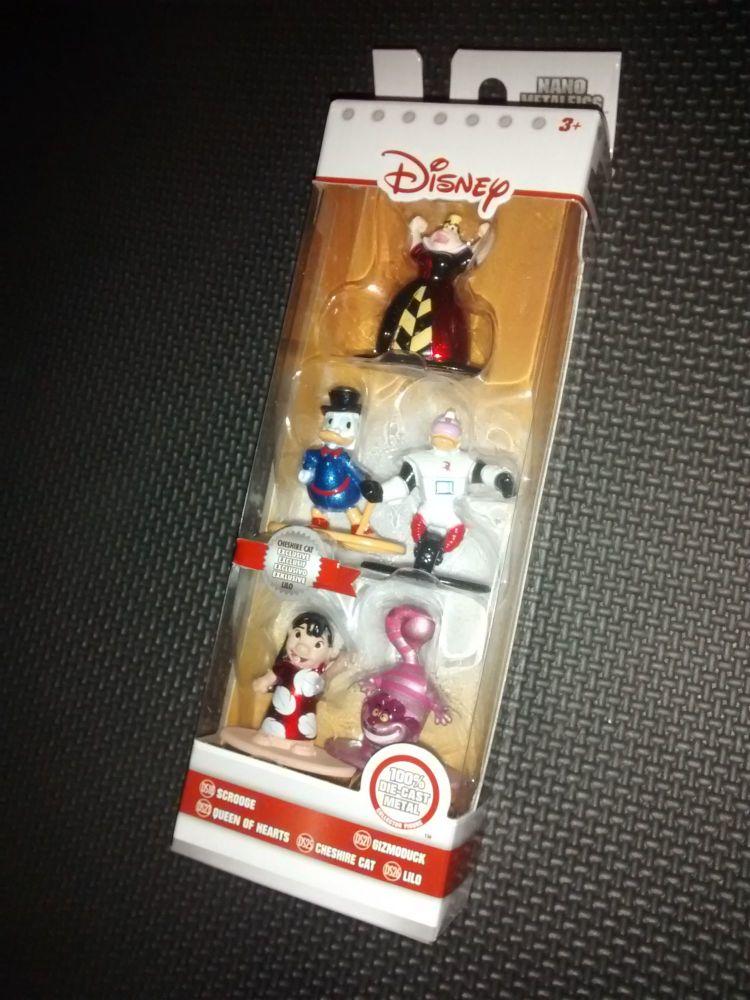 Disney Nano Metalfigs By Jada Toys - Five Disney Character Minifig Pack